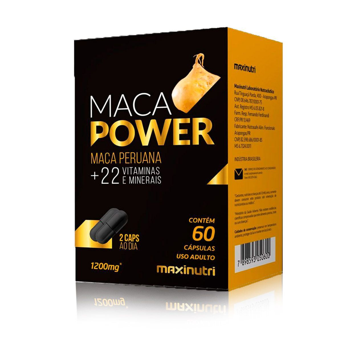 Maca Power Maca Peruana 60 Caps - Maxinutri