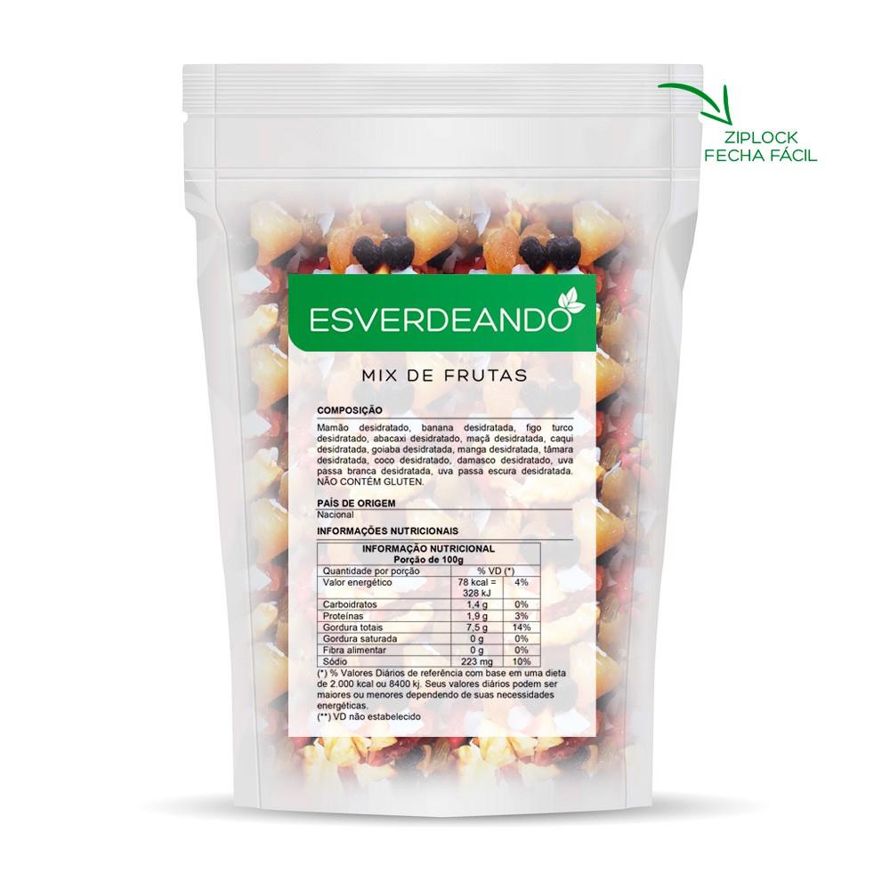 Mix de Frutas Desidratadas 1kg - Esverdeando