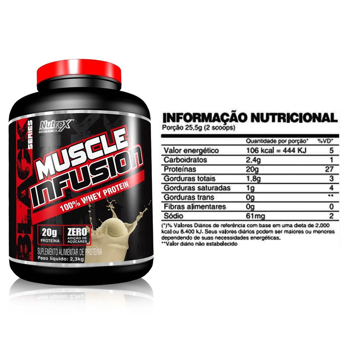 Muscle Infusion 100% Whey Protein 2,250kg - Nutrex