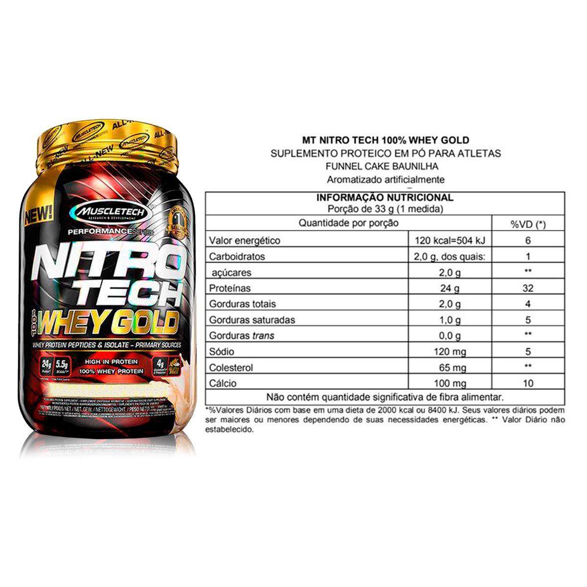Nitrotech Whey Gold 2.5lbs (1,13kg) - Muscletech