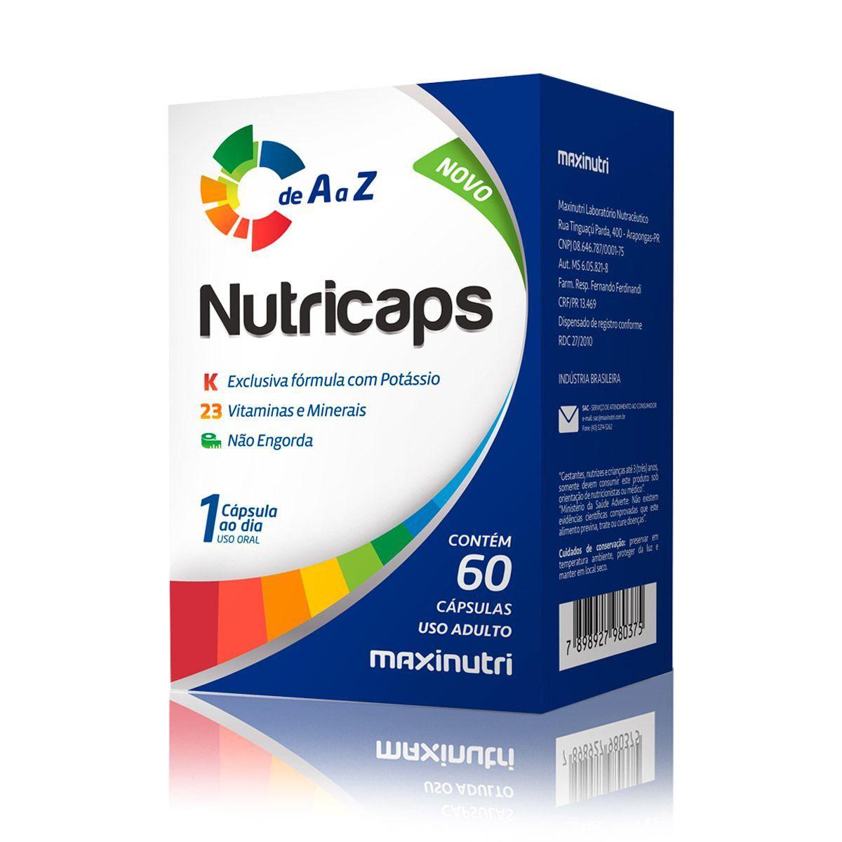 Nutricaps de A a Z 60 Cápsulas - Maxinutri
