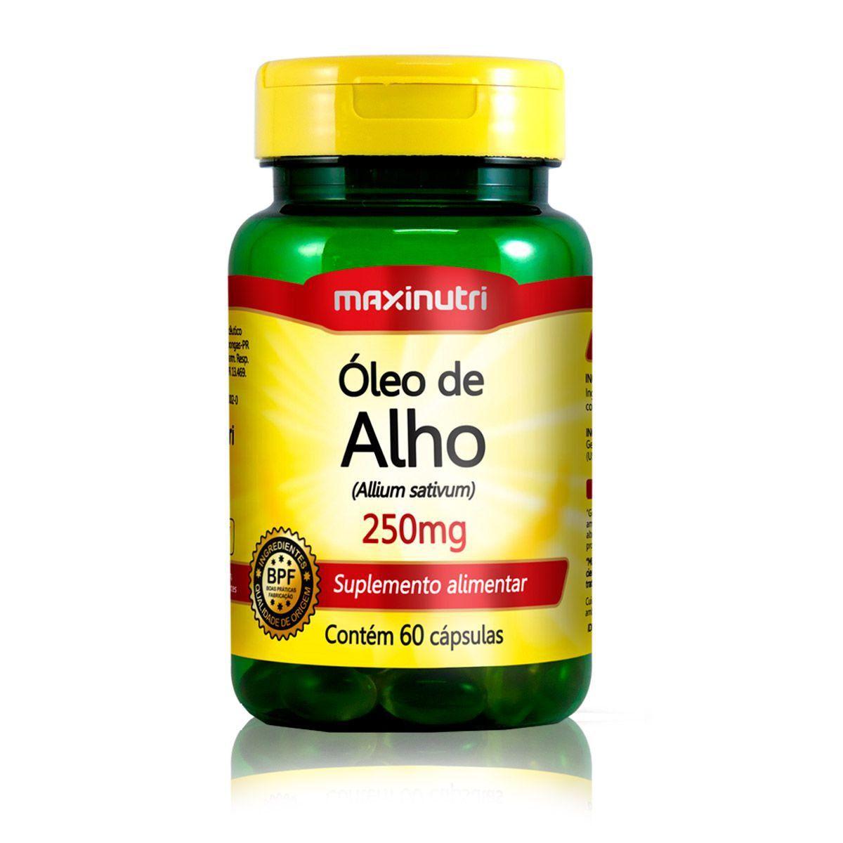 Óleo de Alho 250mg 60 Caps - Maxinutri