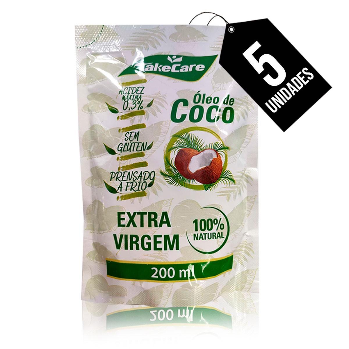 Óleo de Coco Extra virgem 1L Take Care em Saches Individuais