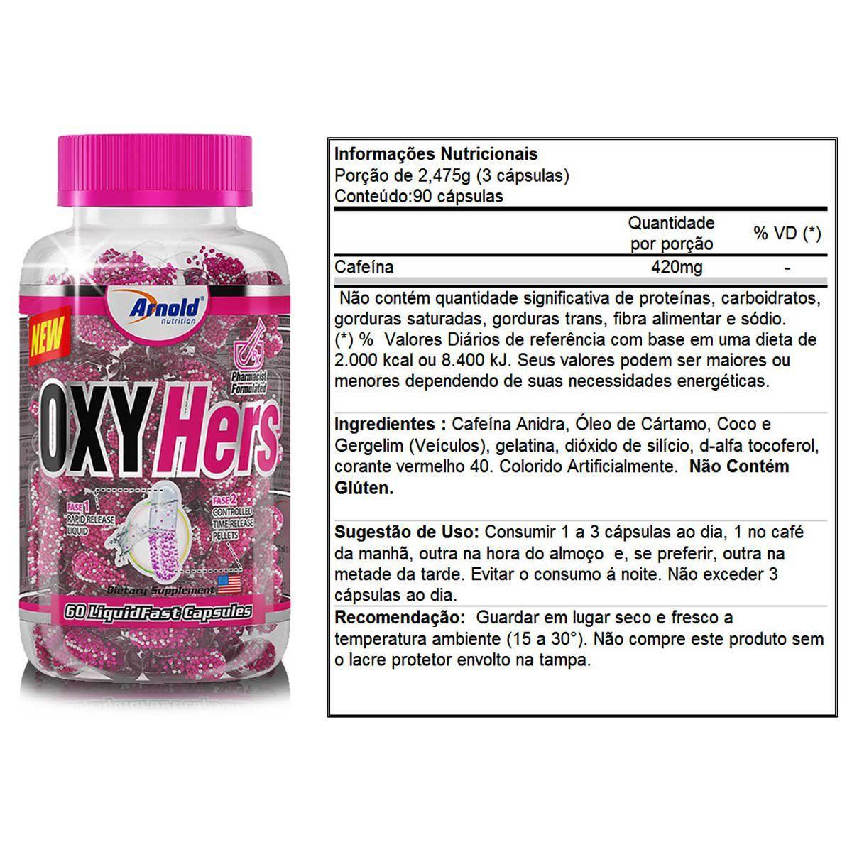 Termogênico Oxyhers 60 Cápsulas - Arnold Nutrition