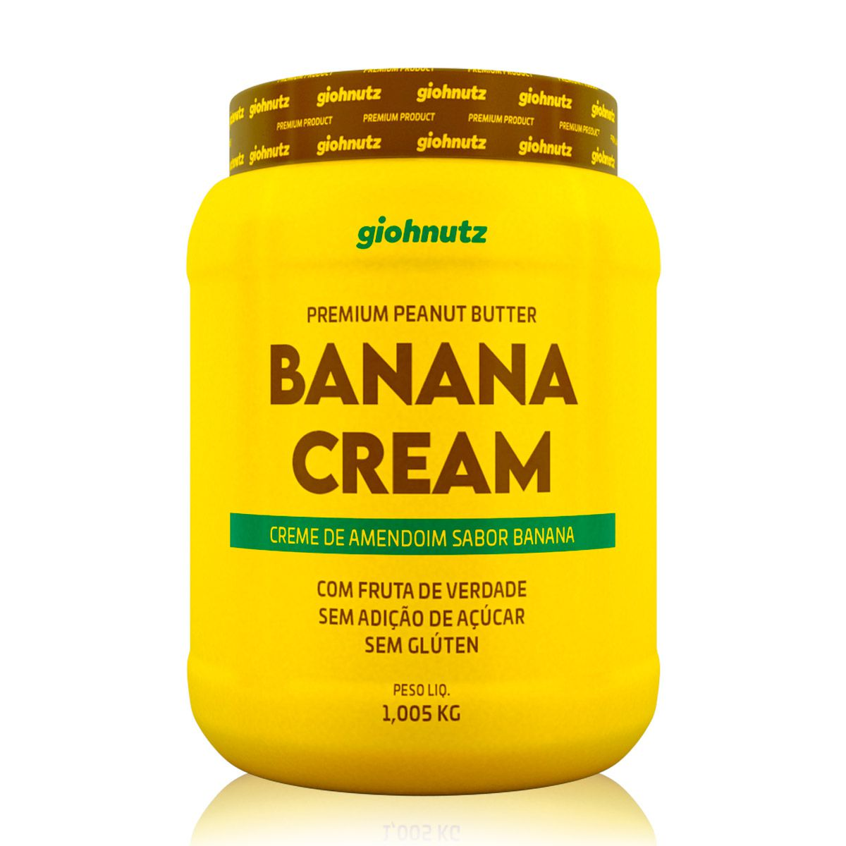 Pasta de Amendoim Banana Cream 1kg - Giohnutz