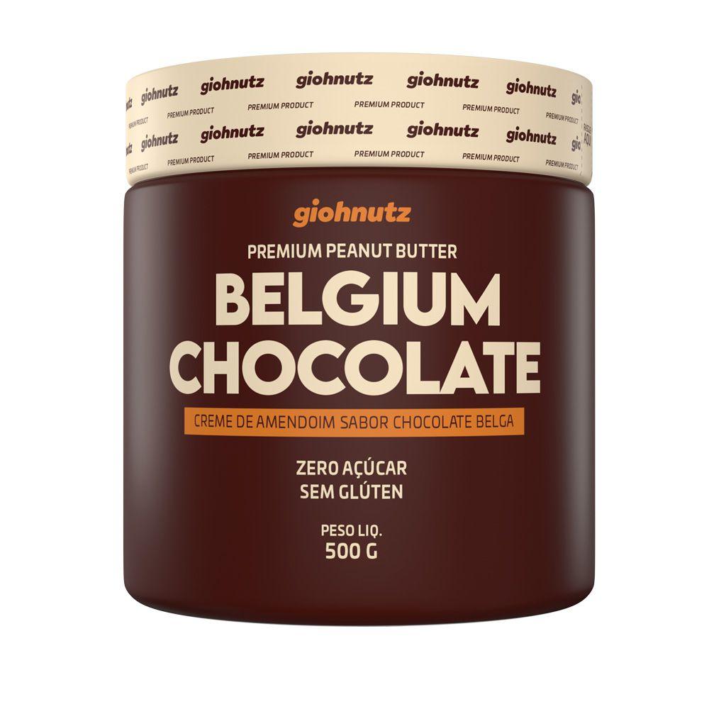 Pasta de Amendoim Belgium Chocolate 500g - Giohnutz
