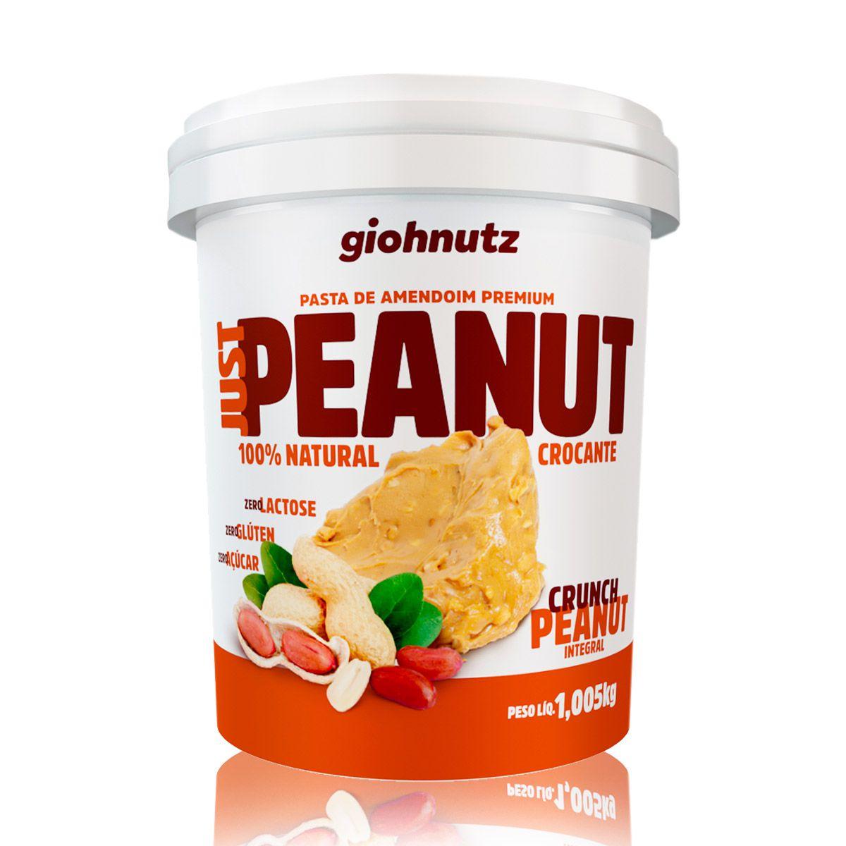 Pasta de Amendoim JustPeanut Crocante 1,005kg - Giohnutz