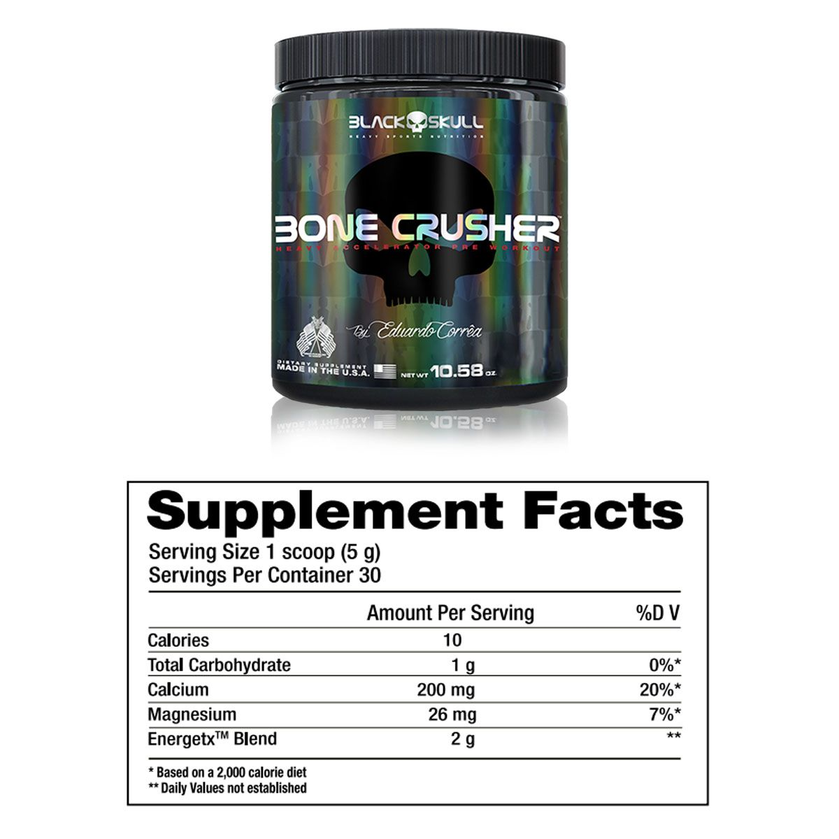 Pre-Treino Bone Crusher 150g - Black Skull