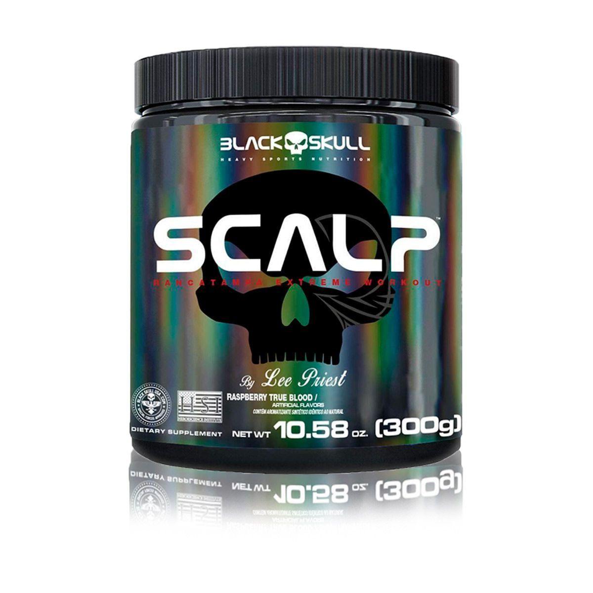 Pré Treino Scalp 300g - Black Skull