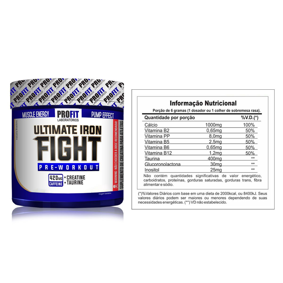 Pré Treino Ultimate Iron Fight 270g - Profit