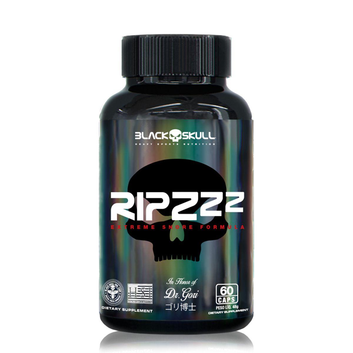 Ripzzz Triptofano 450mg 60 Tabletes - Black Skull