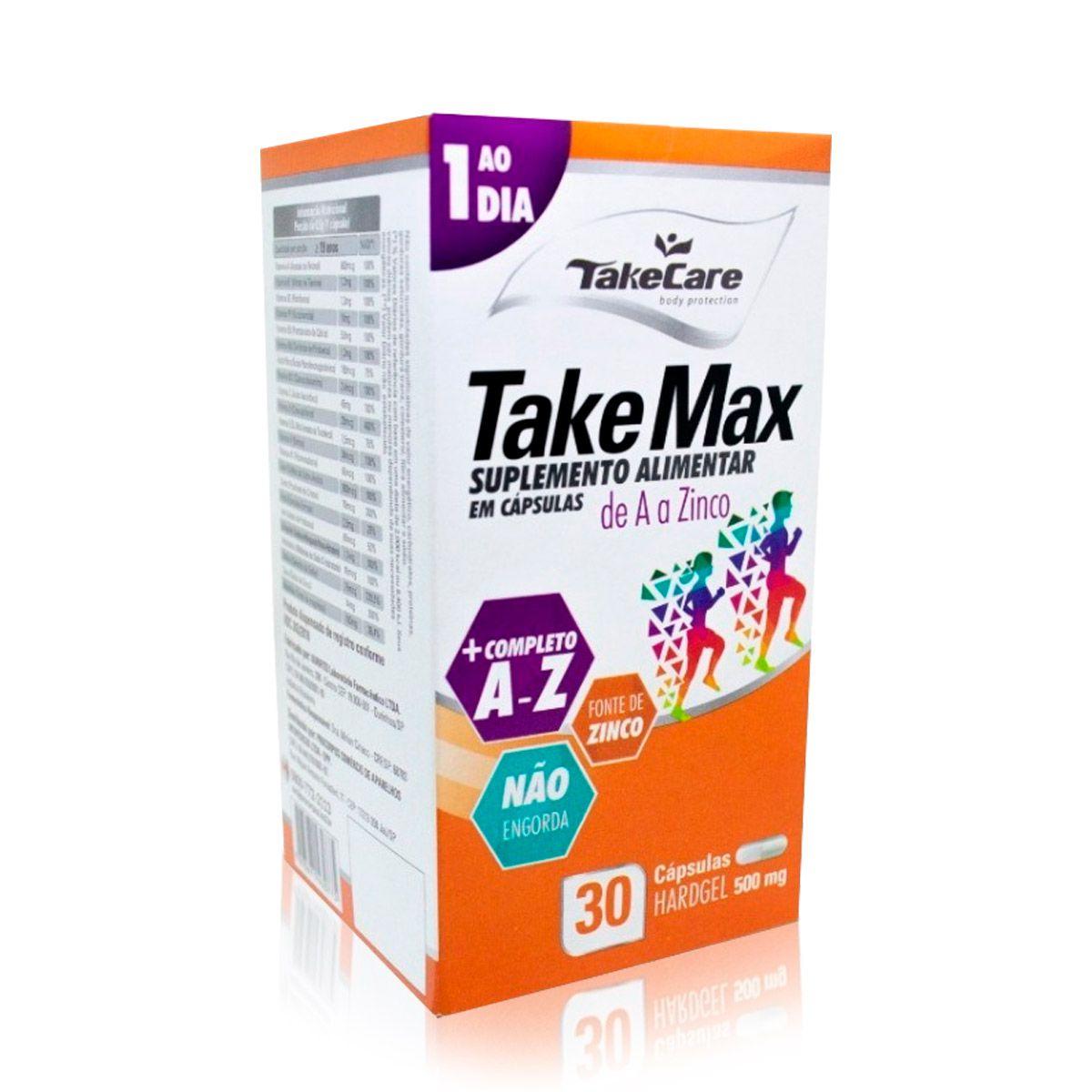 Take Max A Z 500mg 30 Caps - Take Care