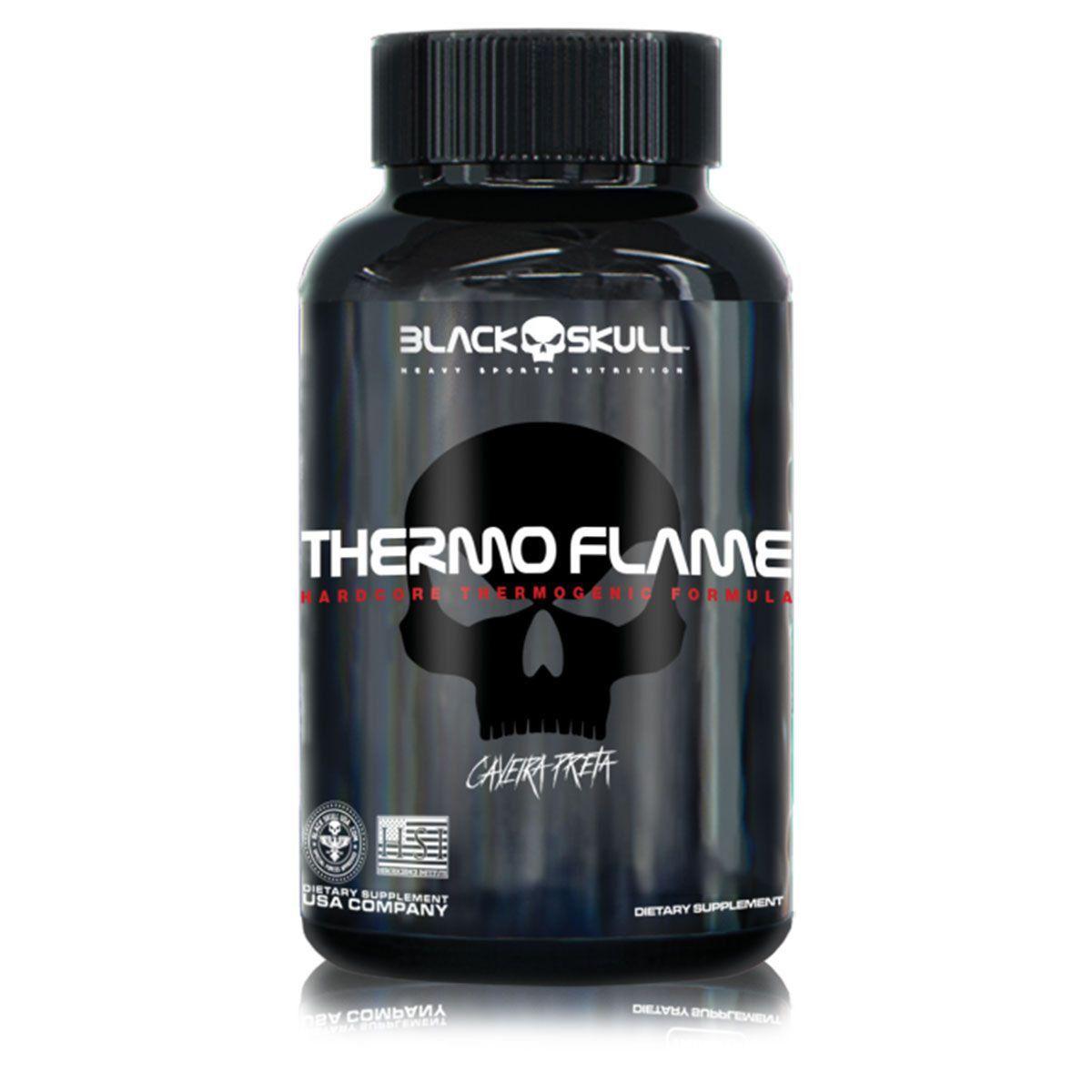 Termogênico Thermo Flame 60 Tabletes - Black Skull