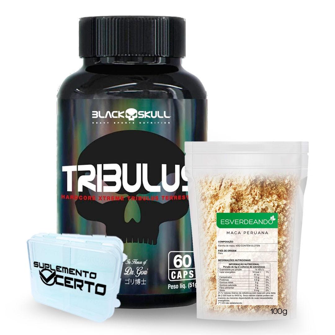 Tribulus Terrestris 60 Caps Black Skull + Maca Peruana 100% Pura 100g