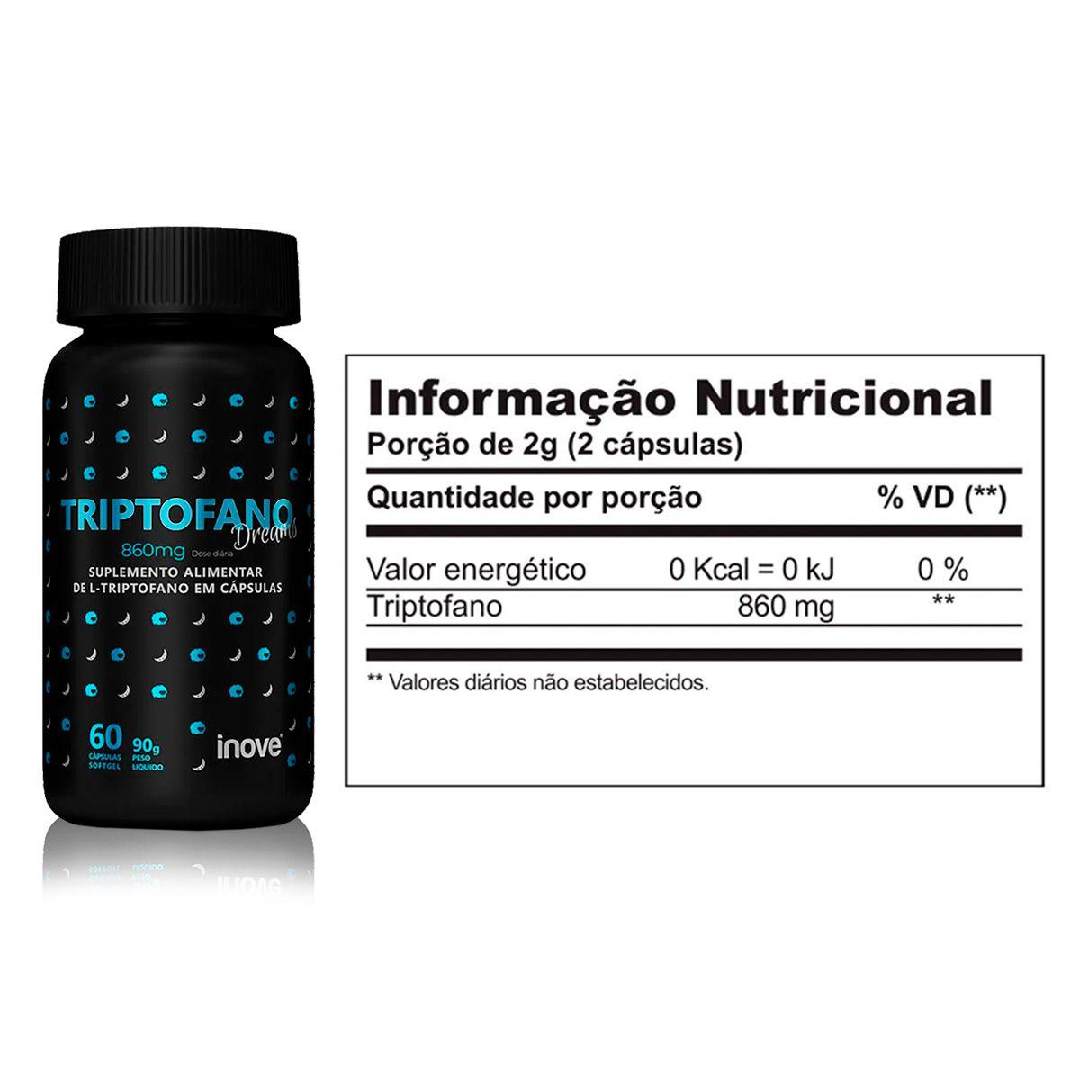 Triptofano Dreams 60 Cápsulas (860mg) - Inove Nutrition