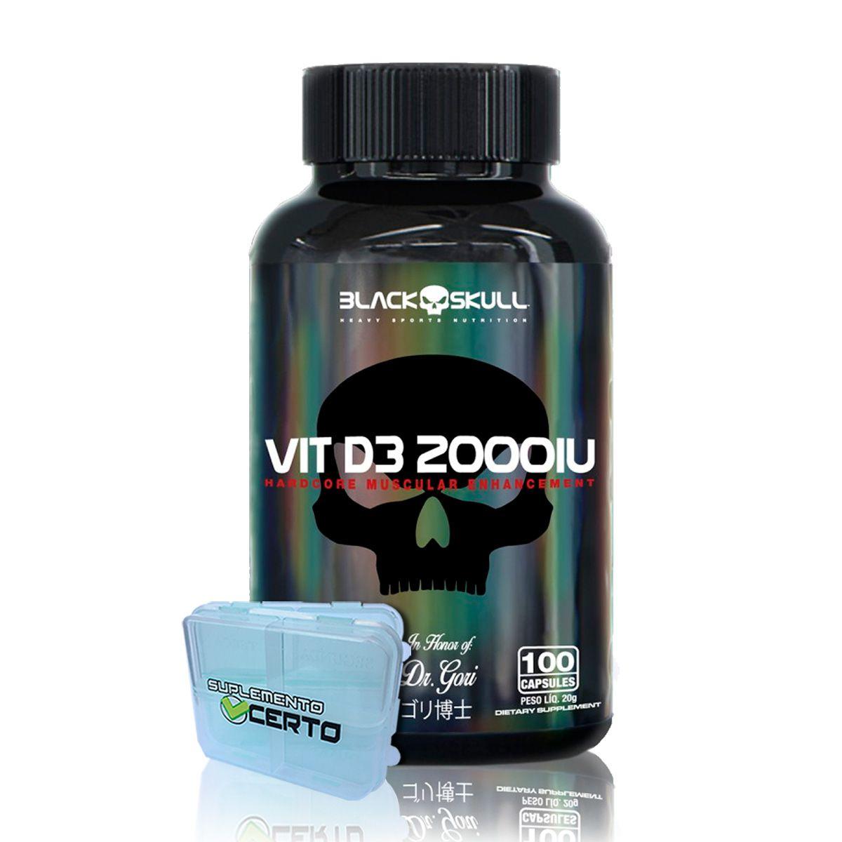 Vitamina D3 100 Cápsulas (Vit D3 2000IU) - Black Skull