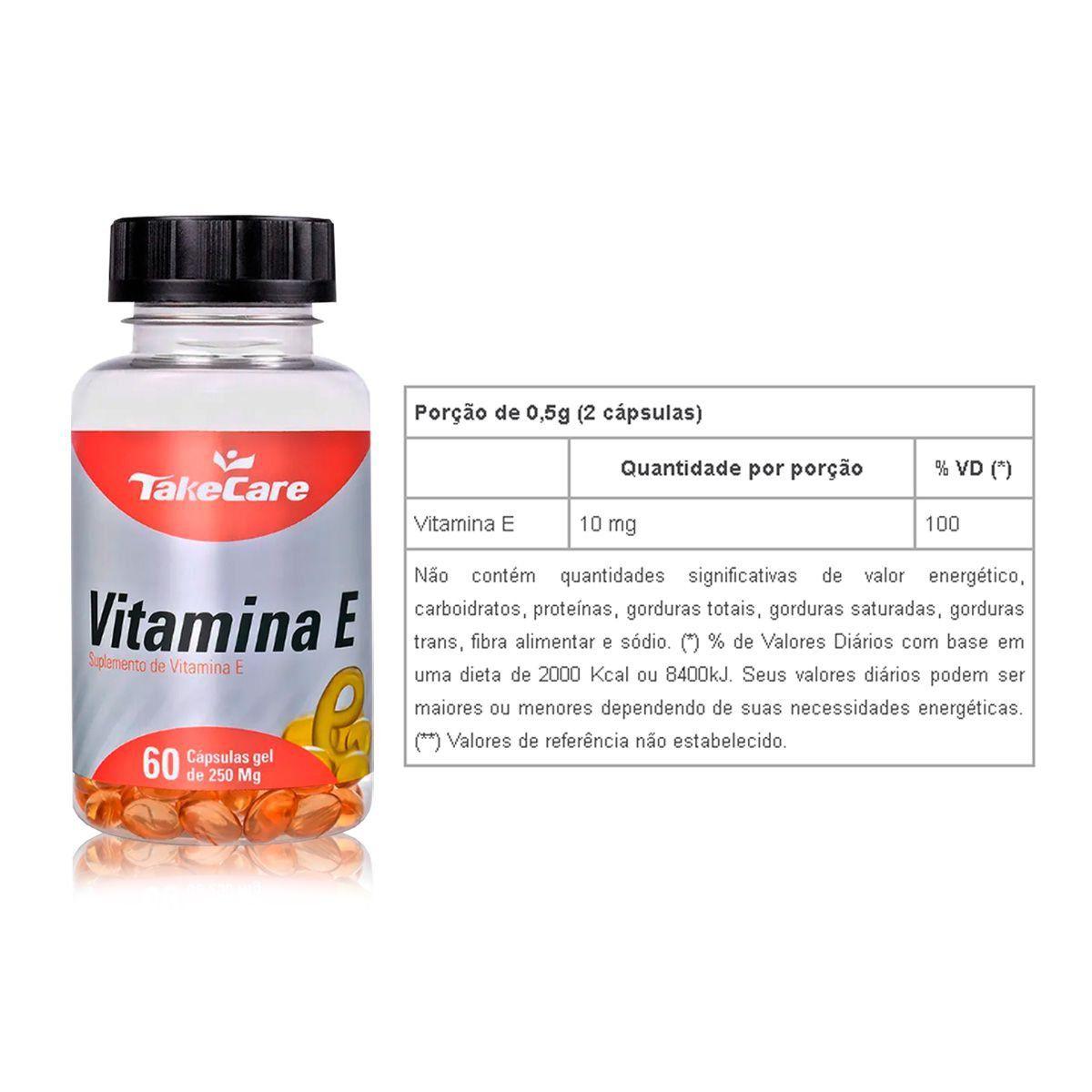 Vitamina E 250mg 60 Caps - Take Care