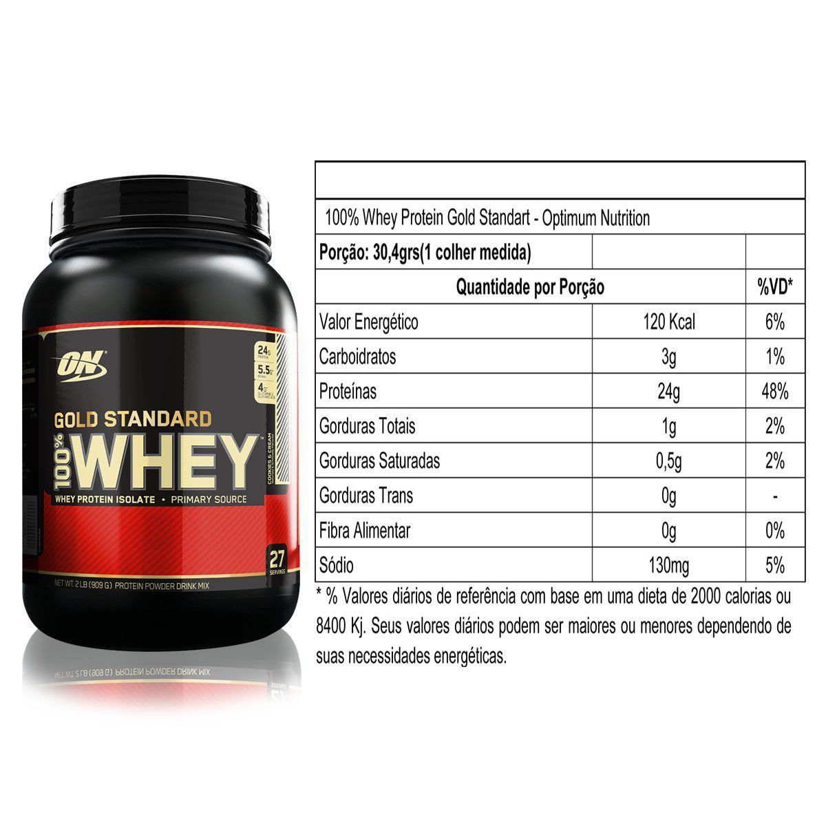 100% Whey Gold Standard 900g Optimum Nutrition
