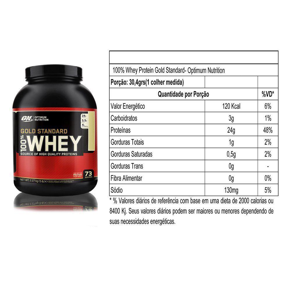 Whey Gold 100% 5lbs (2,27kg) - Optimum Nutrition