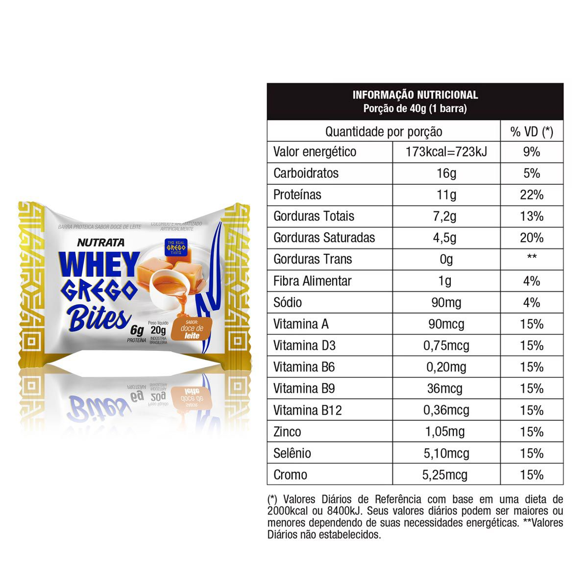 Whey Grego Bites Cream 18 Unidades - Nutrata VALIDADE MAIO de 2020