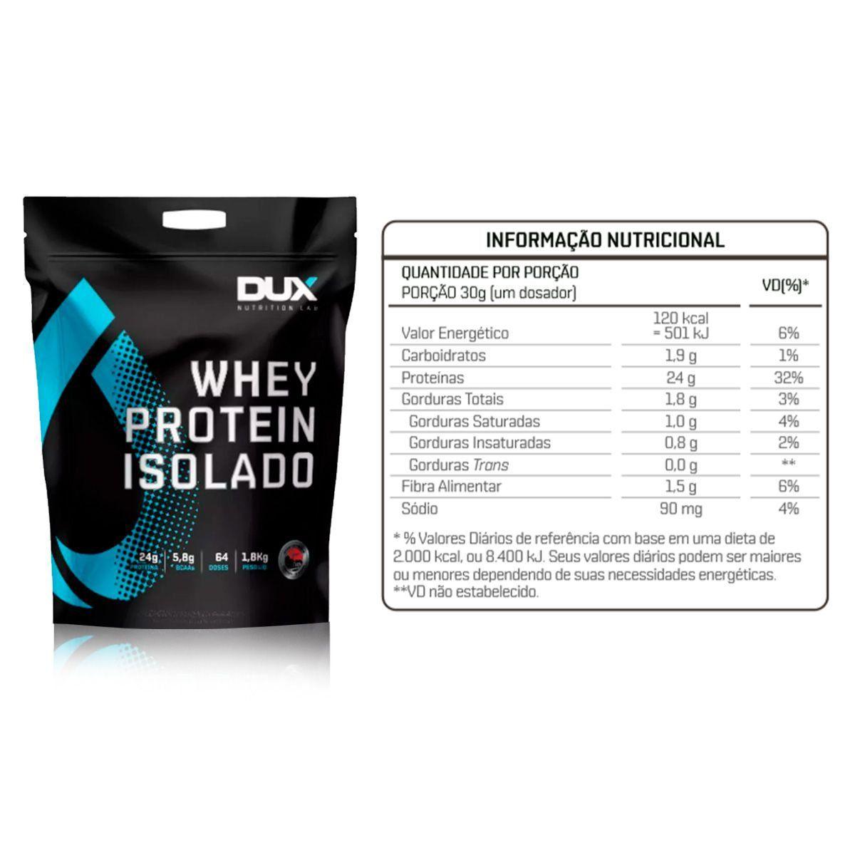 Whey Protein Isolado 1,8kg Refil - Dux Nutrition