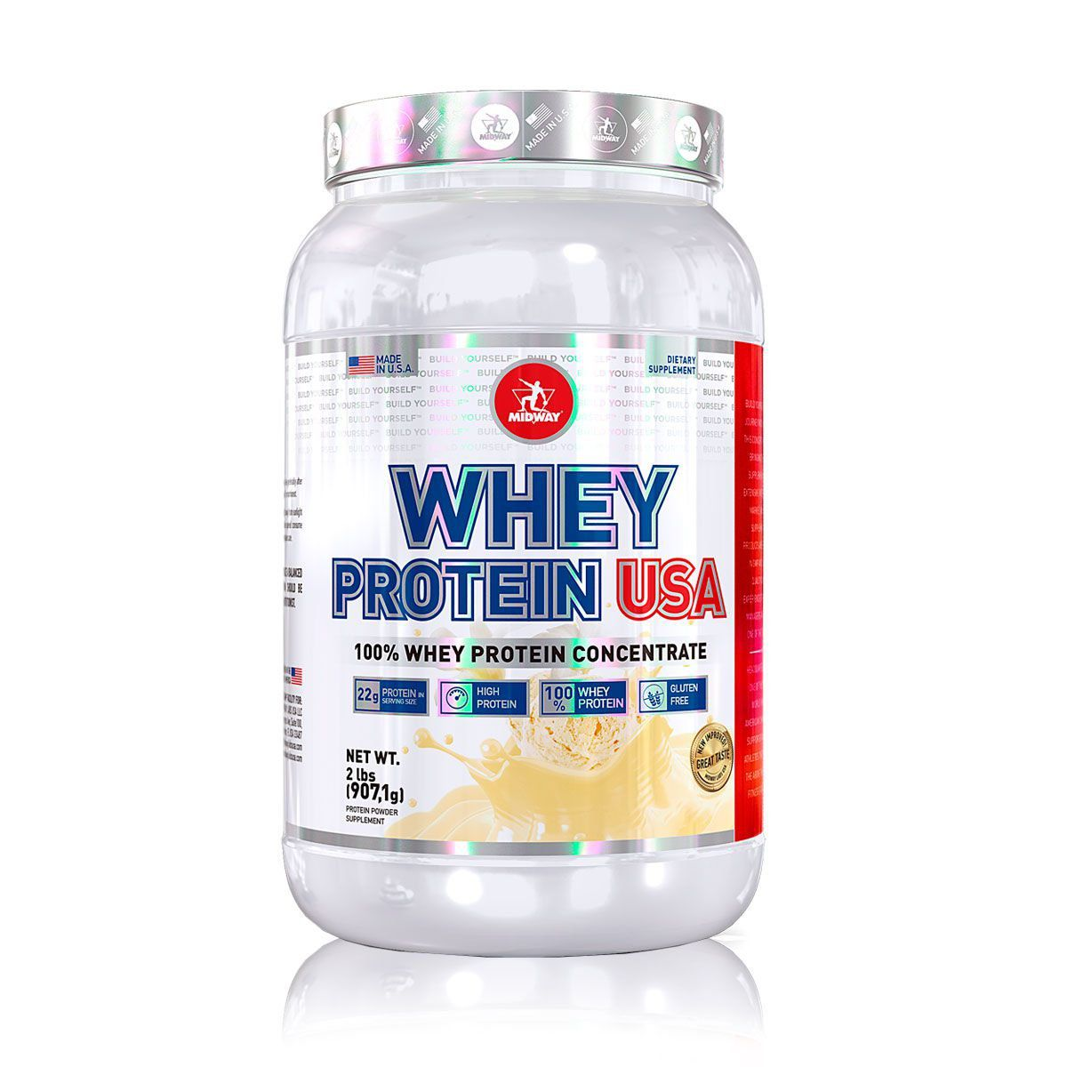 Whey Protein USA 100% Pure 907g - Midway