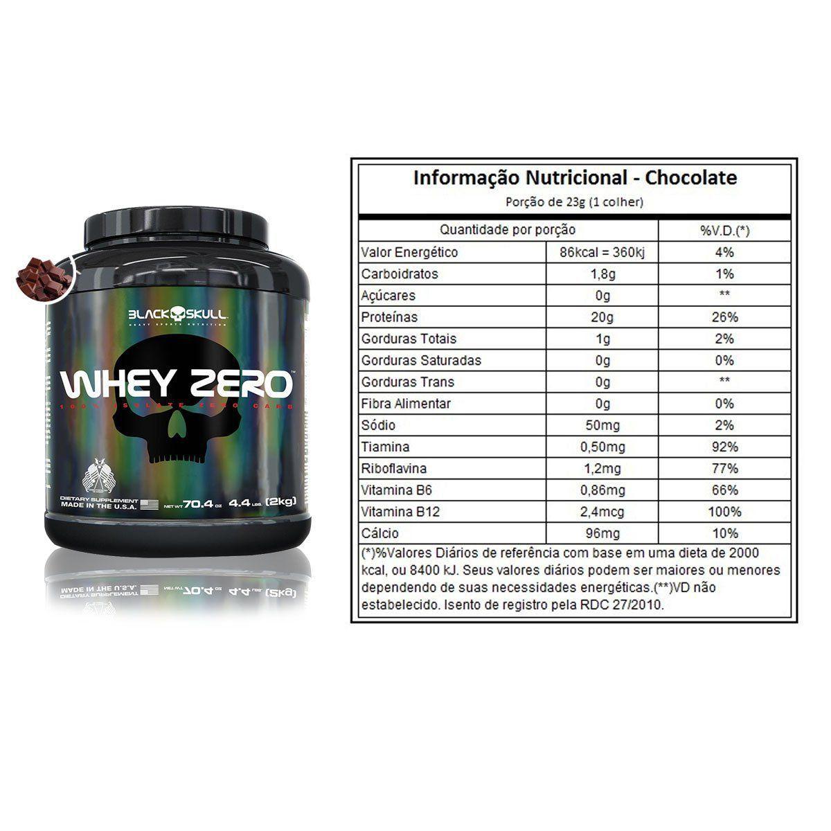 Whey Isolado Zero 2kg - Black Skull