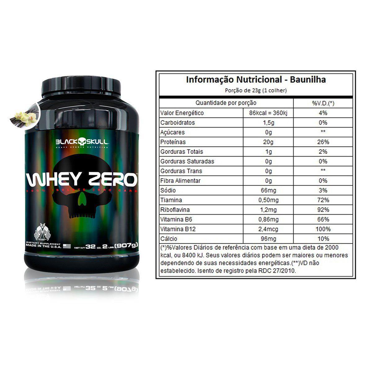 Whey Zero 907g - Black Skull