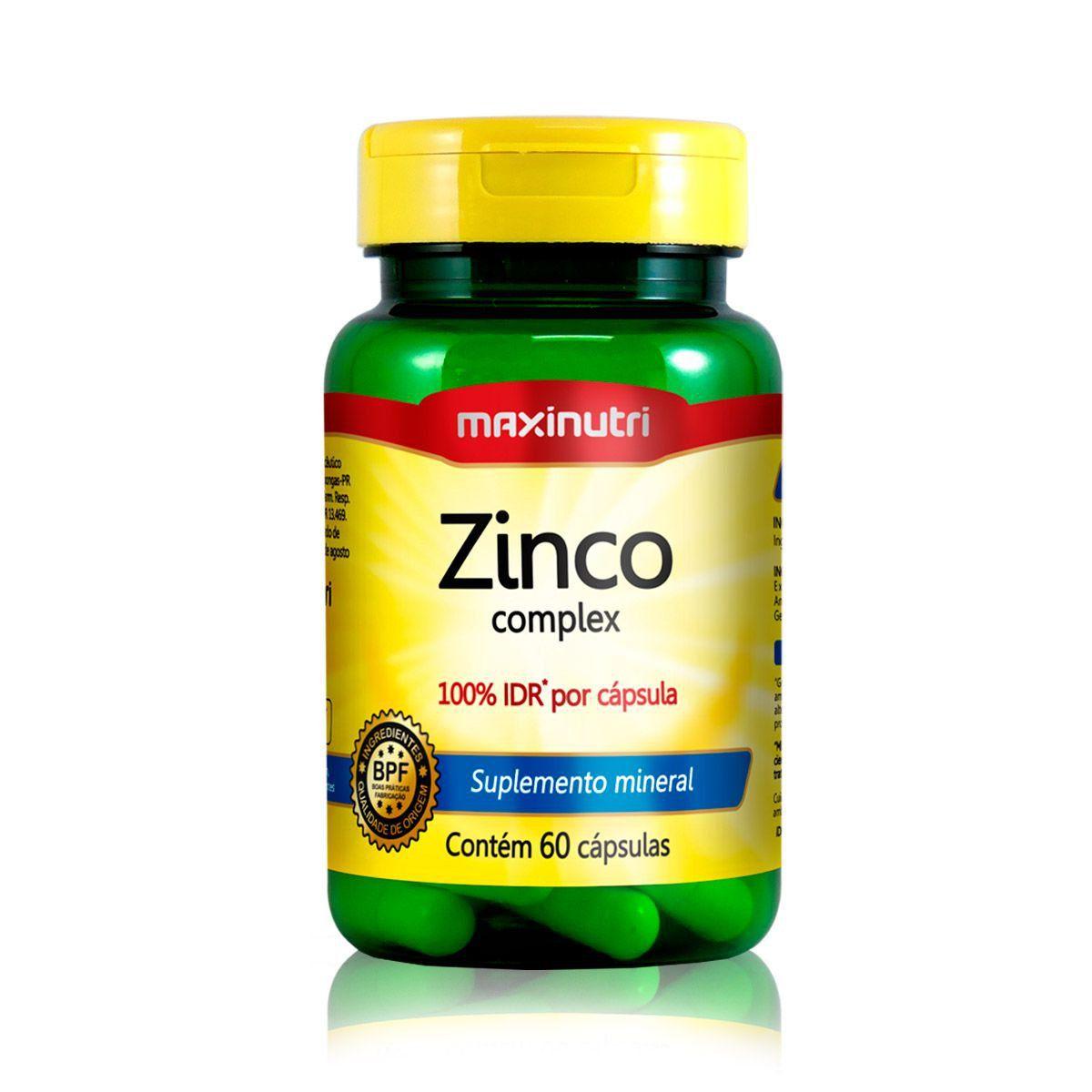 Zinco Quelato 60 Caps - Maxinutri