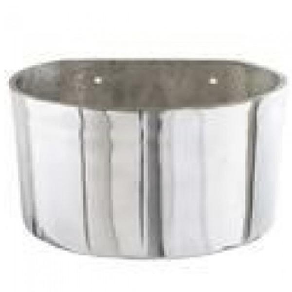 Comedouro Fundo para Equinos em Alumínio 8 Litros
