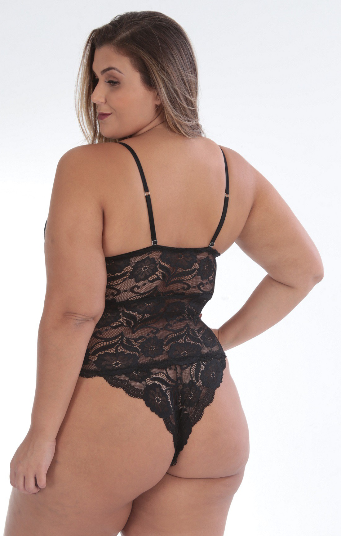 Body de renda Plus size 5696