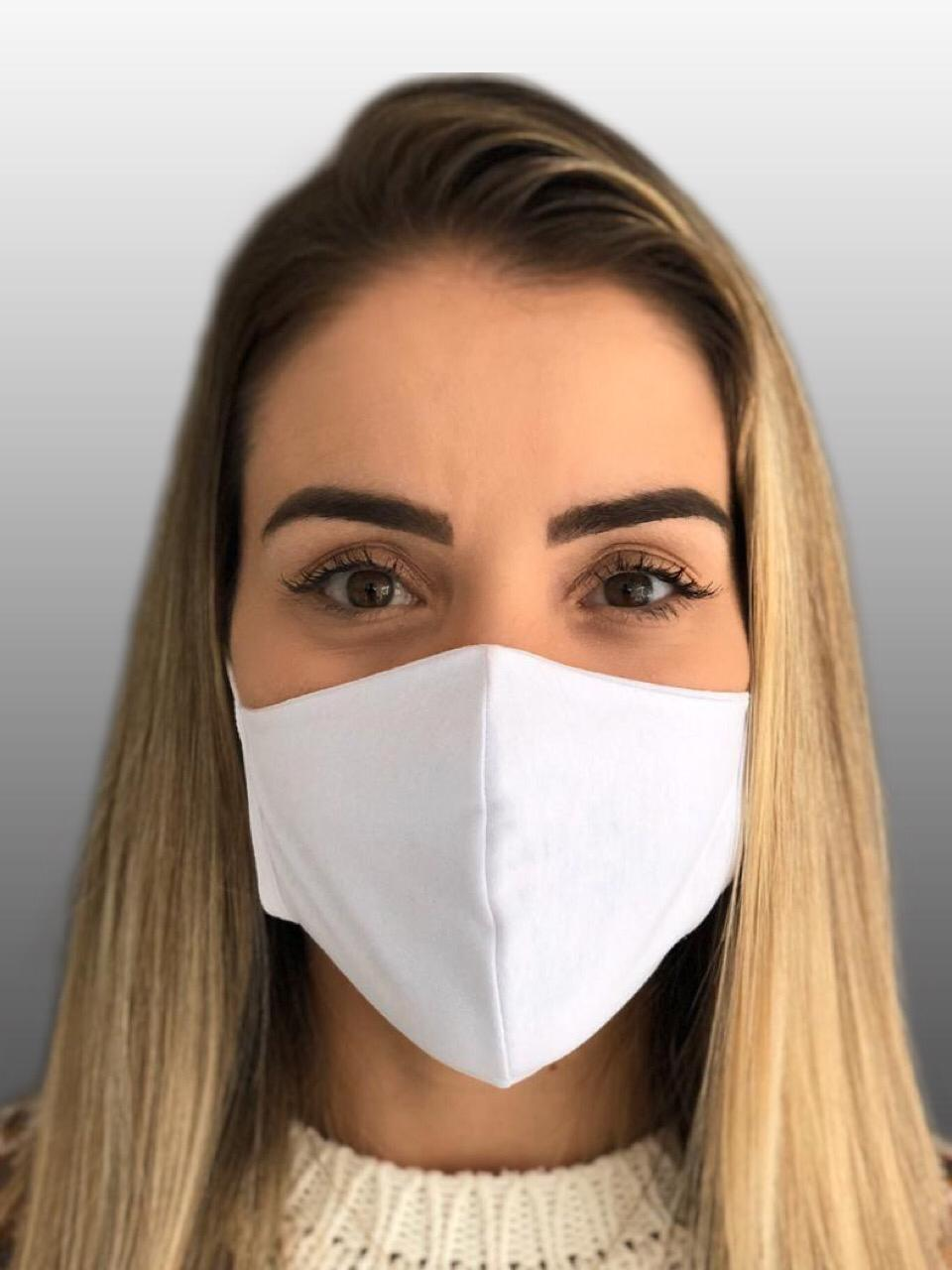 Máscara 100% Algodão Reutilizável Kit c/ 50 unidades