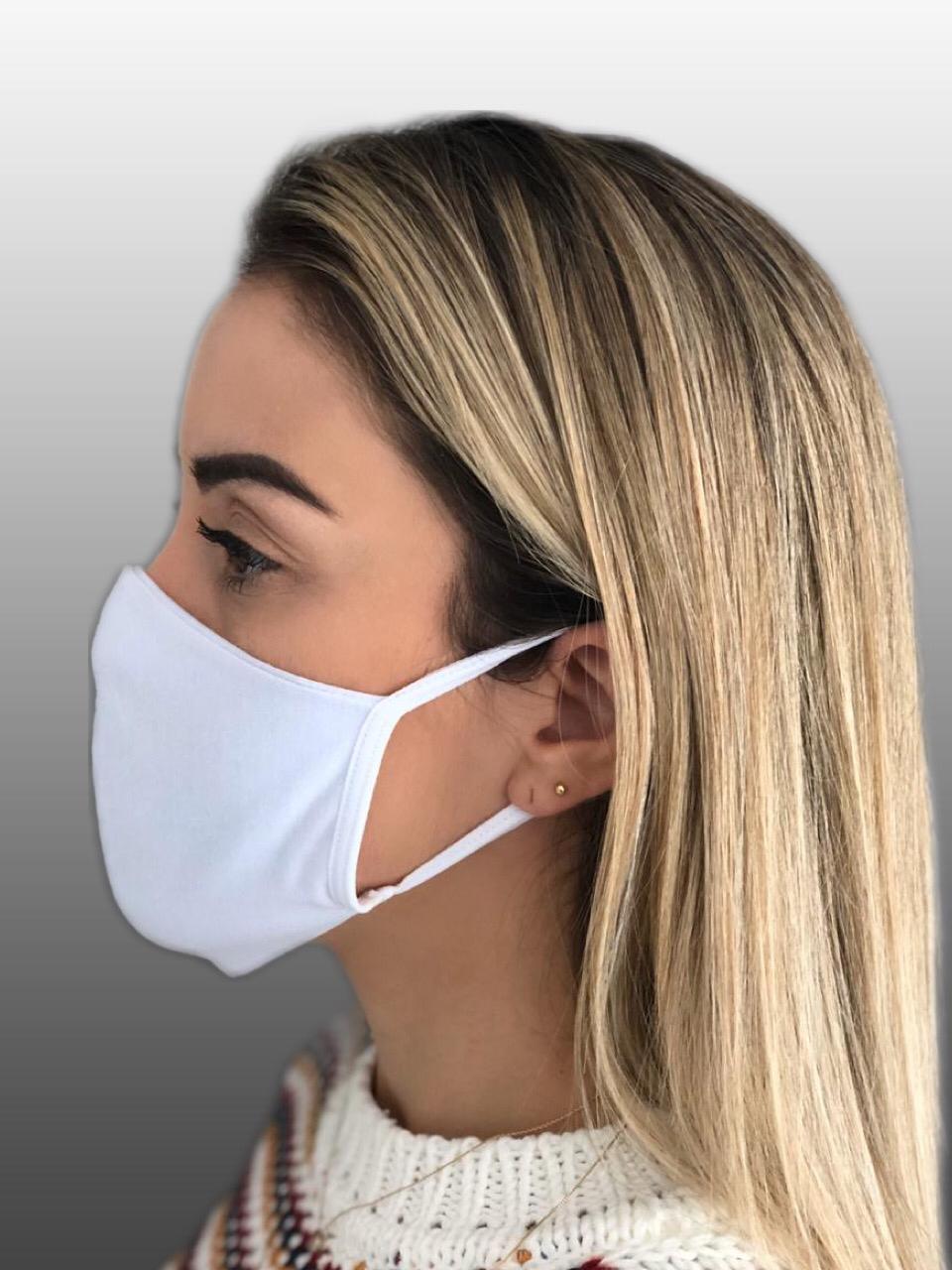 Máscara 100% Algodão Reutilizável Kit c/ 5 unidades