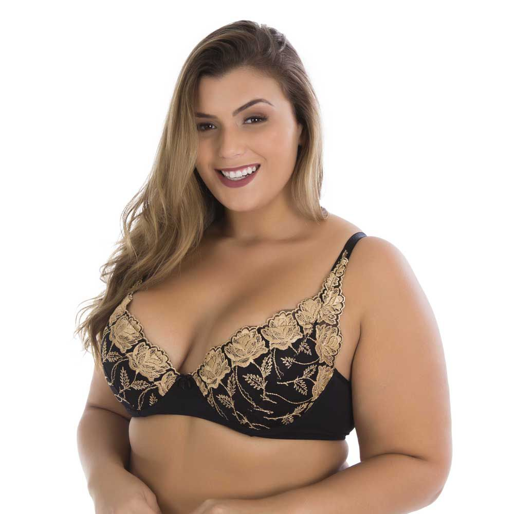 Sutiã de bordado plus size 0303