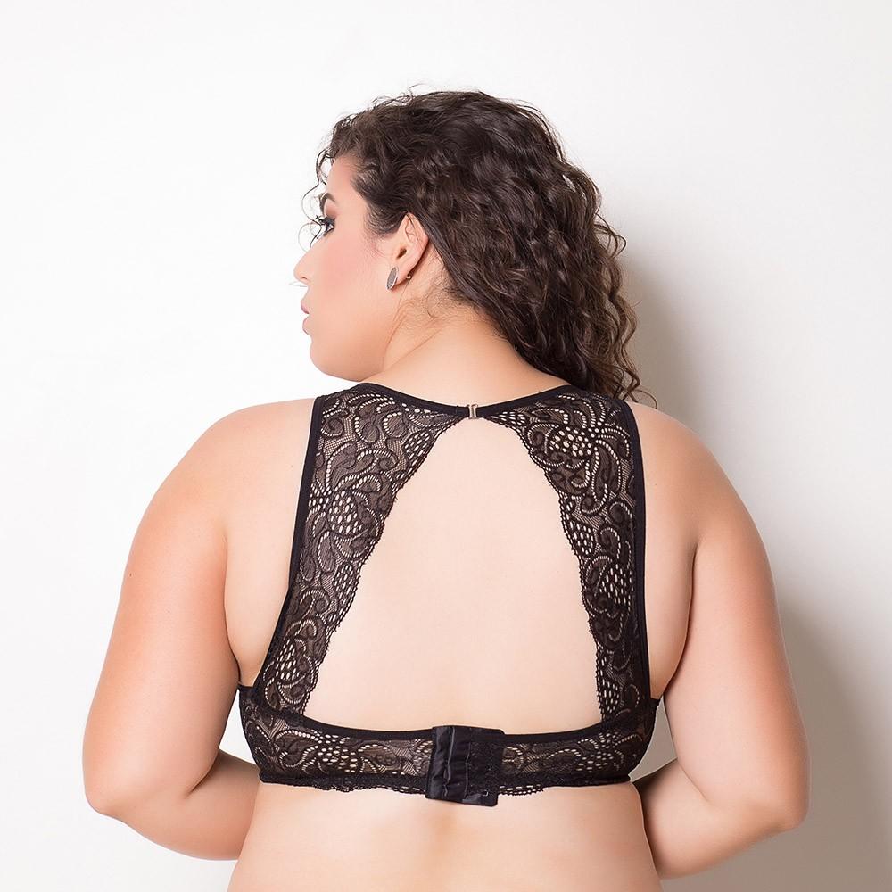 Sutiã plus size com costas em renda