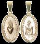 Medalha Missionária Pequena - Folheada a Ouro