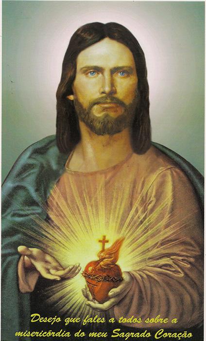 Estampa do Sagrado Coração de Jesus - Grande