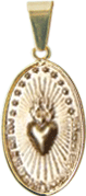 Medalha Missionária Média - Folheada a Ouro