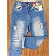 Calça Jeans Mom Destroyed