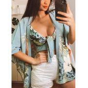 Conjunto Kimono e Top