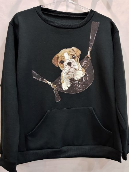 Blusa Canguru Moletom Dog