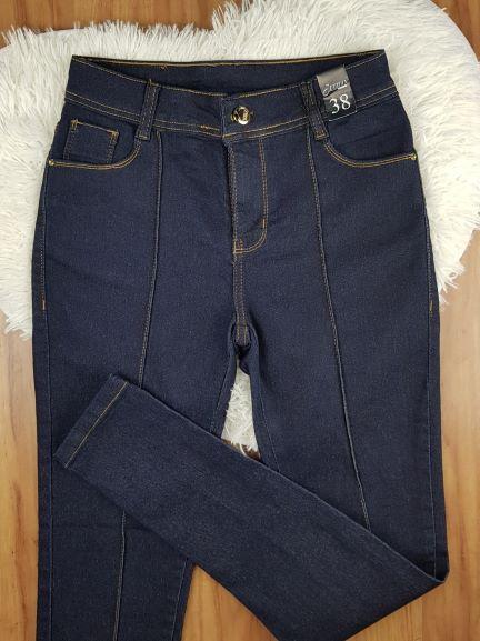 Calça Jeans Skinny com Vinco
