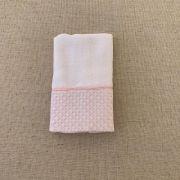 Babinha ( paninho de boca)  bordado rosa