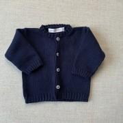 Casaquinho  tricot azul marinho