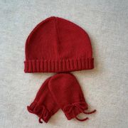 Kit touca e luvinha Vermelha