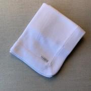 Manta tricot branca
