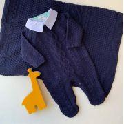 Saída Maternidade Lucas ( azul marinho)