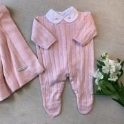 Saída Maternidade tranças rosa