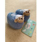 Sapatinho tricot ovelha