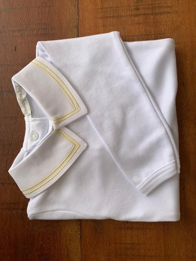 Body bordado duplo amarelo